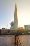 Shard of glass. City of London, south bank of river Thames Royalty Free Stock Image