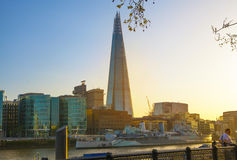 Shard of glass. City of London, south bank of river Thames Royalty Free Stock Photos