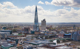 Shard of glass. Panoramic view of London from St. Pauls cathedral Stock Photography