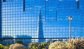 Shard of glass reflection  in sunset. London Royalty Free Stock Images