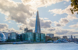 Shard of glass in sunset. London Stock Photos