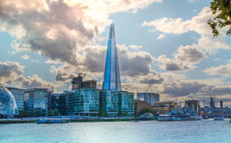 Shard of glass in sunset. London Royalty Free Stock Images