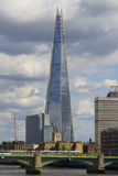 The Shard. The highest skyscraper in The City of London stock images