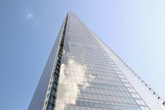 The Shard London UK - Looking up perspective Stock Photography