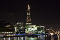 The Shard, London. The Shard, also referred to as the Shard of Glass is a 95-storey skyscraper in Southwark, London, that forms part of the London Bridge Quarter Stock Photography
