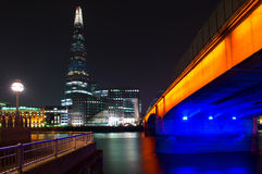 The Shard and London Bridge in London, England Stock Photo