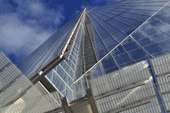 The Shard, London, Britain. Vertical perspective. Vertical perspective view of the shard building in London, Great Britain. Contemporary British architecture Royalty Free Stock Image