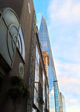 The Shard London building between streets Stock Images