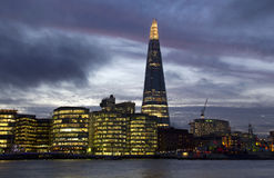 The Shard in London at dusk Royalty Free Stock Images
