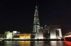 The Shard London at night Royalty Free Stock Images