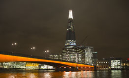 The Shard in London at night Royalty Free Stock Images