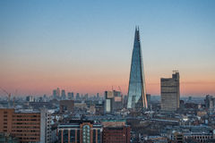The Shard, London. Seen from Tate Modern stock photography