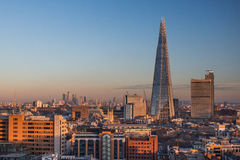The Shard, London. Seen from Tate Modern royalty free stock image