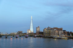 The Shard on London skyline Royalty Free Stock Photo