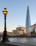 Shard of London and Street lamp Stock Images