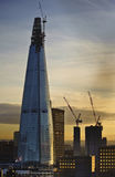 The Shard in London undergoing construction Royalty Free Stock Photography