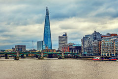 Shard and modern buildings in London. Stock Images