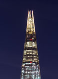 Shard at Night in London Stock Photo