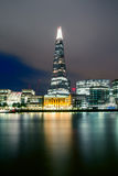 The Shard at night. Summer night view on The Shard Stock Photos