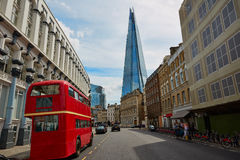 The Shard and old London red Bus Royalty Free Stock Image