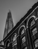 The Shard over Hays Gallery. royalty free stock photos