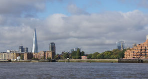 The shard over Thames river in London Stock Photos
