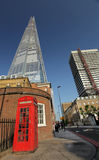 The Shard and phone booth Stock Images