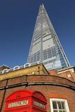 The Shard and phone booth Royalty Free Stock Photos