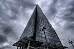 The Shard poking in to the clouds Stock Photos