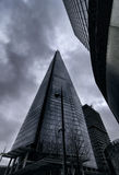 The Shard poking in to the clouds Stock Image