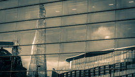 Shard Reflection in Glass Royalty Free Stock Photo