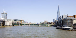 The Shard from the River Thames Royalty Free Stock Photo
