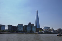 The Shard from the River Thames Royalty Free Stock Photos