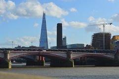 The Shard & River Thames Royalty Free Stock Images