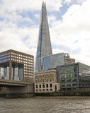 The Shard from the River Thames Stock Photo