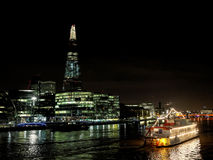 The Shard seen from the river Thames, London, december 2013 Royalty Free Stock Images
