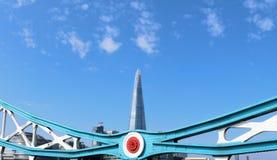 The Shard seen from Tower Bridge Stock Photo