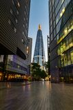 The Shard shot from a modern alley in London Stock Photo
