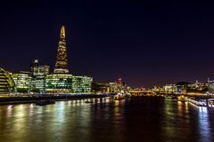 The Shard - skyscraper in Southwark in London. stock photography
