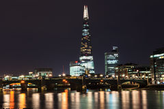 The Shard skyscraper and Thames river at sunset Royalty Free Stock Photography