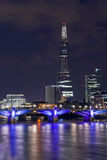 The Shard and Southwark Bridge in London Stock Images