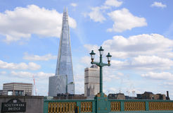 The Shard from Southwark Bridge in London, England Royalty Free Stock Image