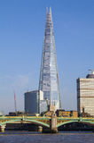 The Shard and Southwark Bridge in London Stock Photos