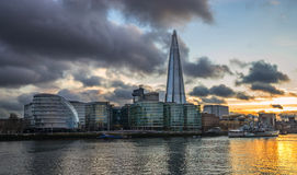 The Shard on Southwark embankment Royalty Free Stock Photos
