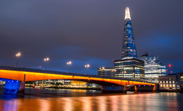 The Shard. Summer night view on The Shard Royalty Free Stock Photos