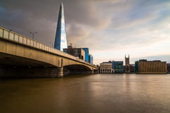 The Shard at Sunset Royalty Free Stock Images