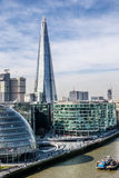 The Shard, the tallest building in London. During the day. This is the view from the Tower Bridge Stock Photos