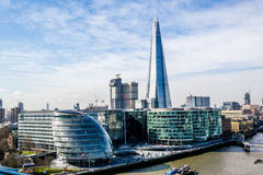The Shard, the tallest building in London. During the day. This is the view from the Tower Bridge Royalty Free Stock Image