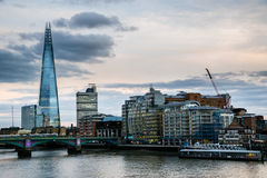 The Shard, the tallest building in London. In sunset Royalty Free Stock Image