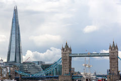 The Shard and the Tower Bridge in London Stock Images